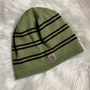 Carhartt reversible green and brown beanie